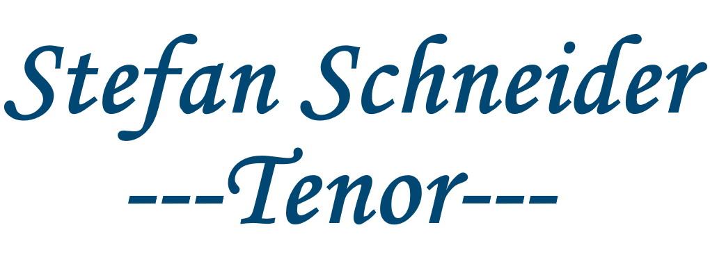 Stefan Schneider - Tenor